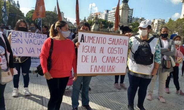 Movilización de Trabajadoras de casas particulares