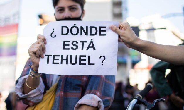 Movilización por la aparición de Tehuel en La Plata