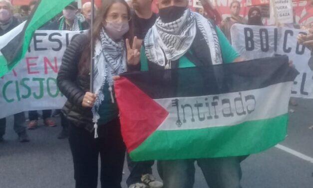 Manifestación en la Embajada de Israel