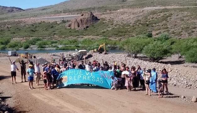 Avanza la obra que dañará el Río Nahueve en Neuquén