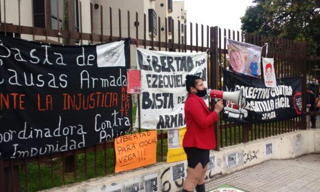 Concentración por la liberación de Ezequiel Bazán