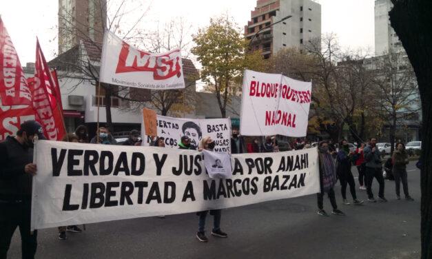 Actividades sociales por la absolución de Marcos Bazán