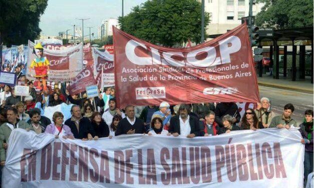 CICOP FESPROSA del Hospital Posadas lleva adelante una caravana en reclamo al aumento salarial en cuotas del 35%