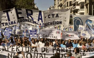 Jornada de protesta Nacional docente convocada por CTERA