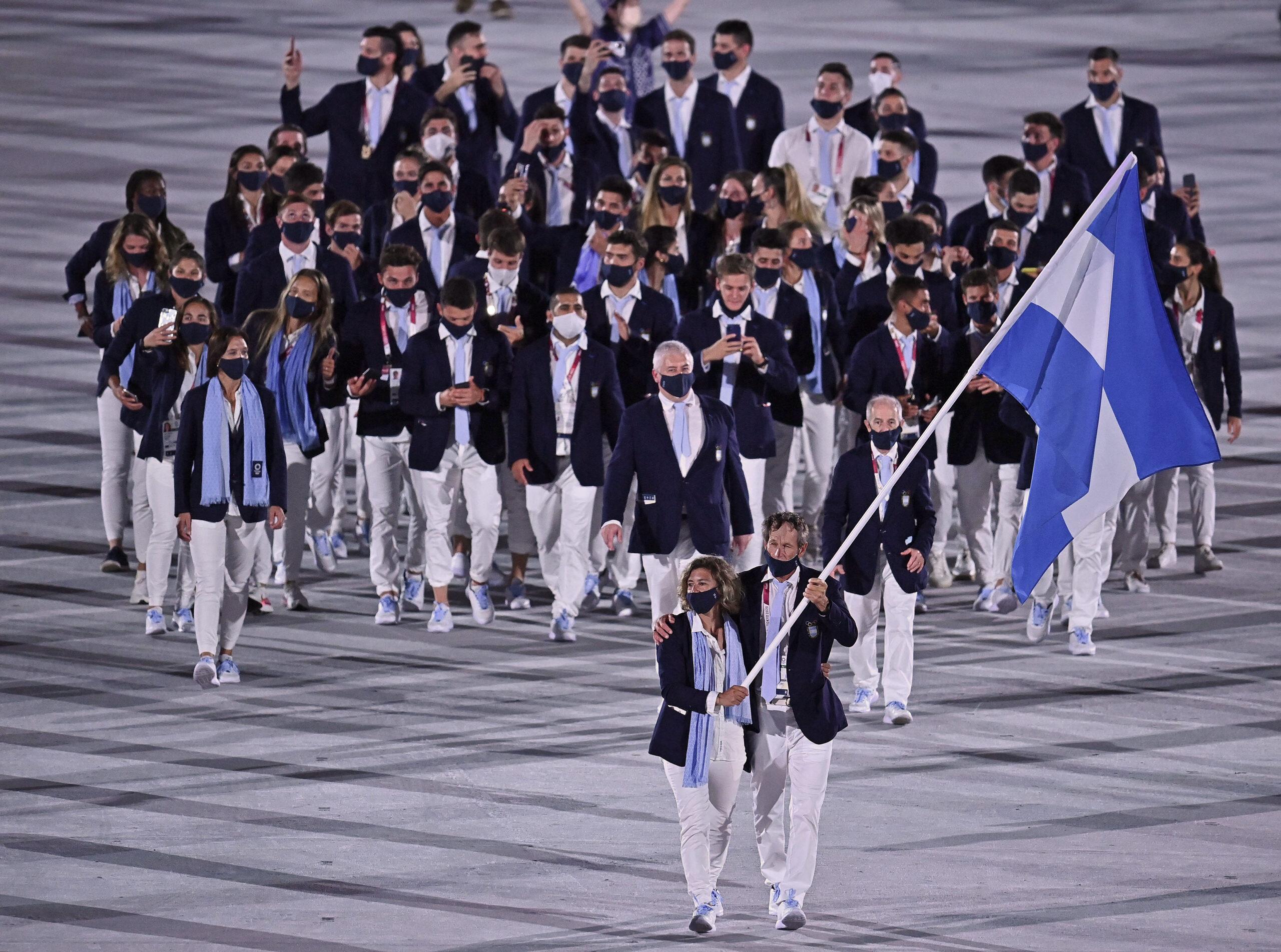El desfile de Argentina en la inauguración de los Juegos Olímpicos