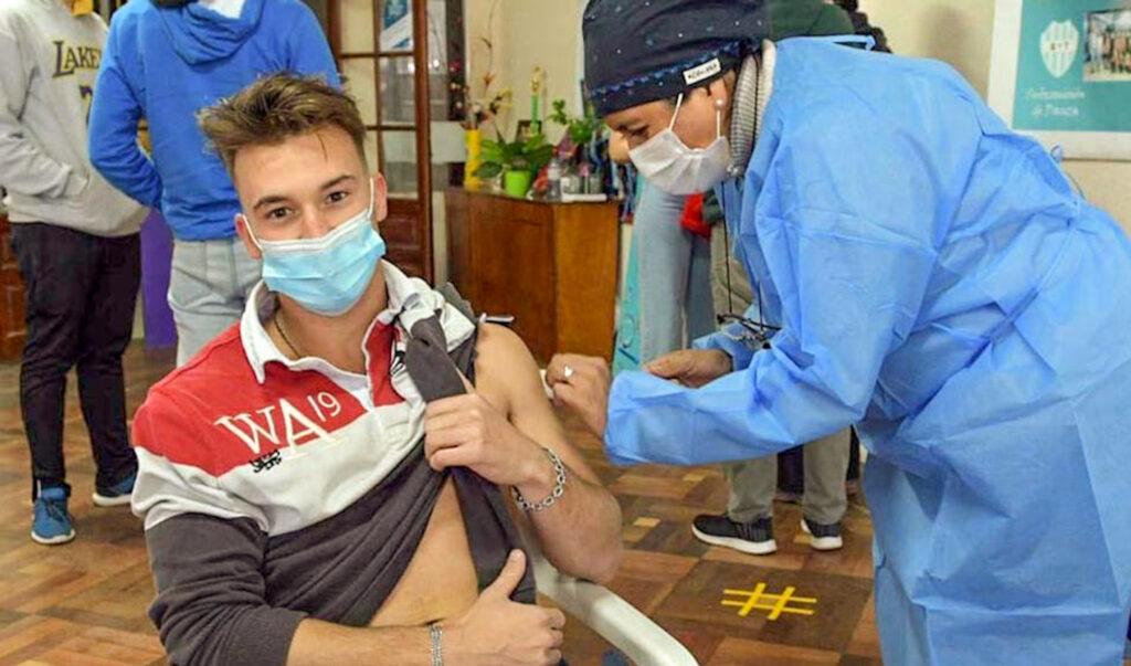 Vacunación jóvenes provincia de Buenos Aires