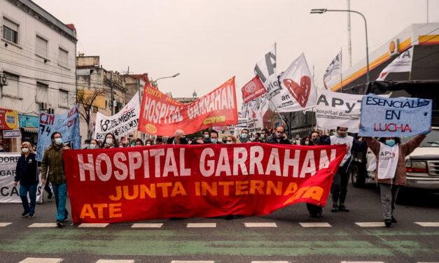 Reclamo salarial y paro en el Hospital Garrahan