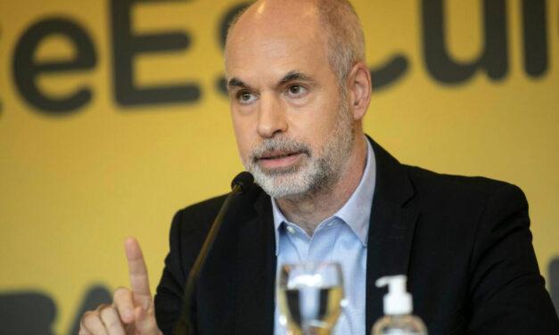 Escrache al jefe de Gobierno Porteño Horacio Rodríguez Larreta