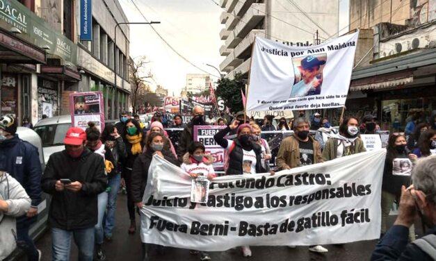 Nueva marcha del Colectivo Contra el Gatillo Fácil en La Plata