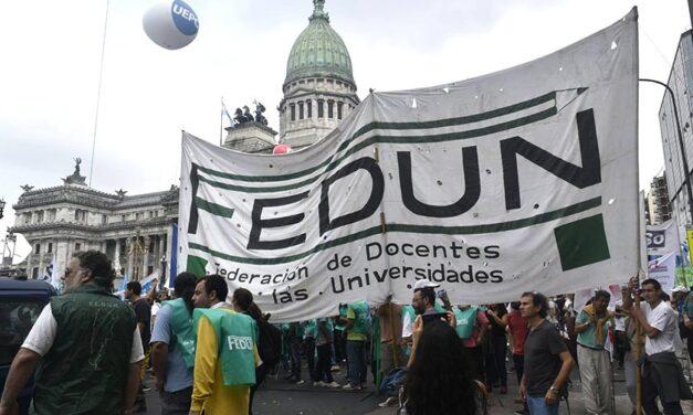 La Federación de Docentes de las Universidades pidió un aumento salarial
