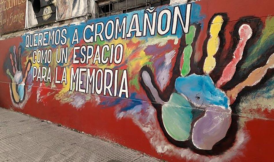 Mural sobre Cromañón