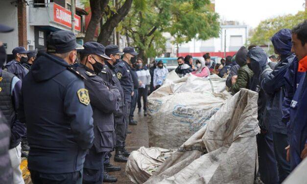 Esteban Echeverría: violencia policial en manifestación de cartoneres