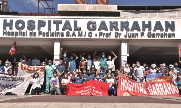 Jornada de protesta en el Hospital Garrahan