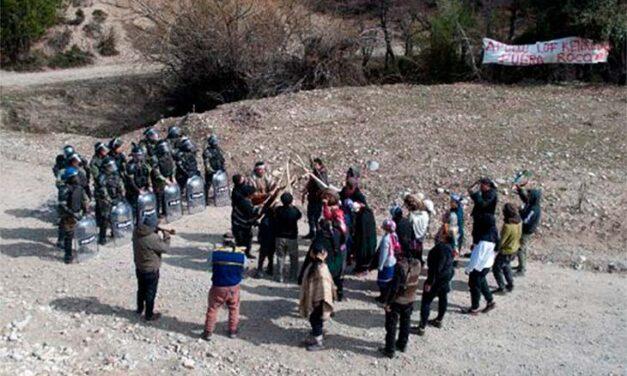 Movilización en apoyo a la comunidad mapuche