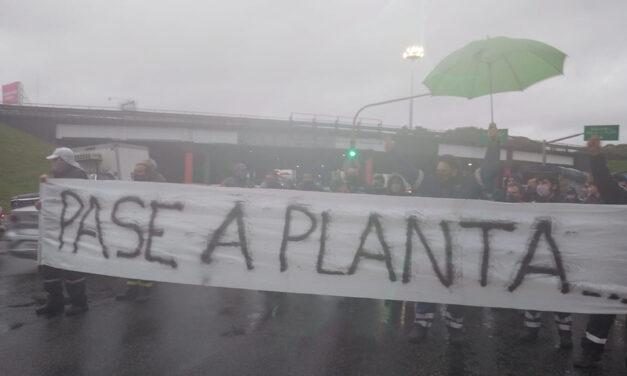 Paro y concentración de trabajadores de Naturgy Ban