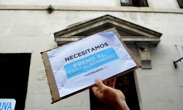 Marcha de Hipotecados UVA para pedir que se reestructure la deuda