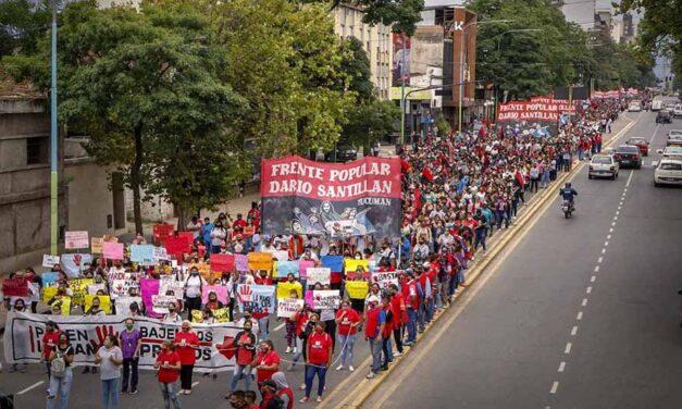 Jornada nacional de lucha del Frente Popular Darío Santillán