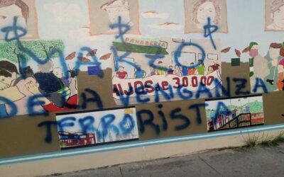 Murales de HIJOS sufrieron vandalismo en Morón y Berisso