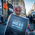 Personas en situación de calle: acampe en Congreso en reclamo de una ley que les ampare