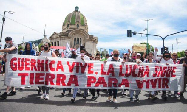 Guernica: marcha por el desalojo de terrenos