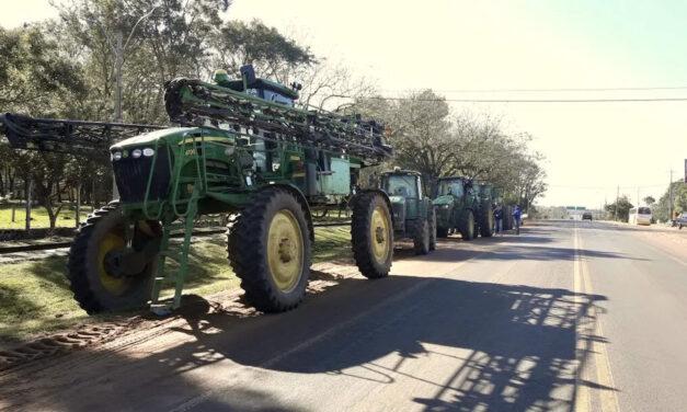 Tractorazo en San Juan ante la falta de agua para riego