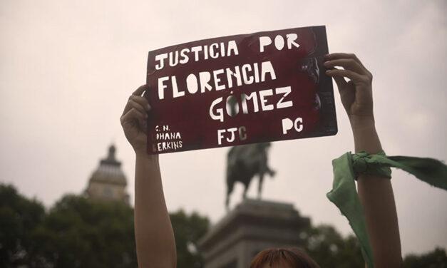 Movilizaciones a un año del femicidio de María Florencia Gómez