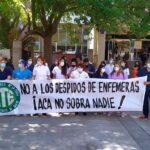 Trabajadores del Hospital Durand movilizaron en contra de los despidos
